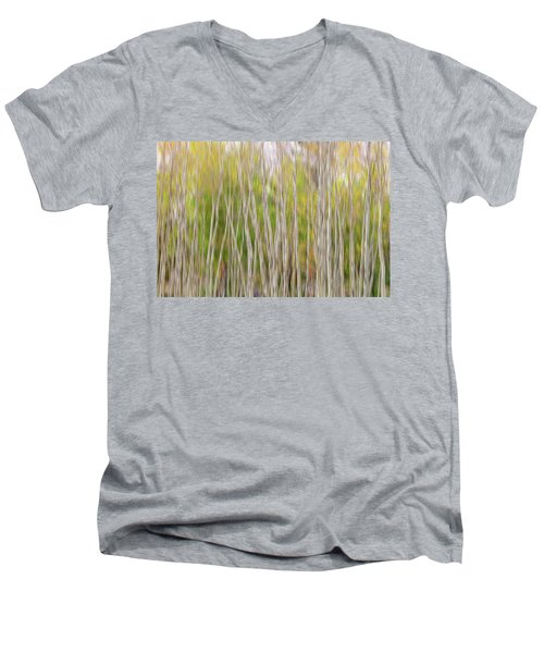 Men's V-Neck T-Shirt featuring the photograph Forest Twist And Turns In Motion by James BO Insogna