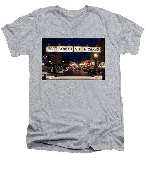 Fort Worth Stock Yards 112318 Men's V-Neck T-Shirt