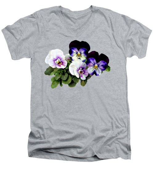 Four Pansies Men's V-Neck T-Shirt