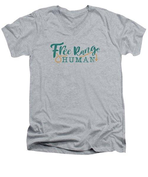 Free Range Human Men's V-Neck T-Shirt