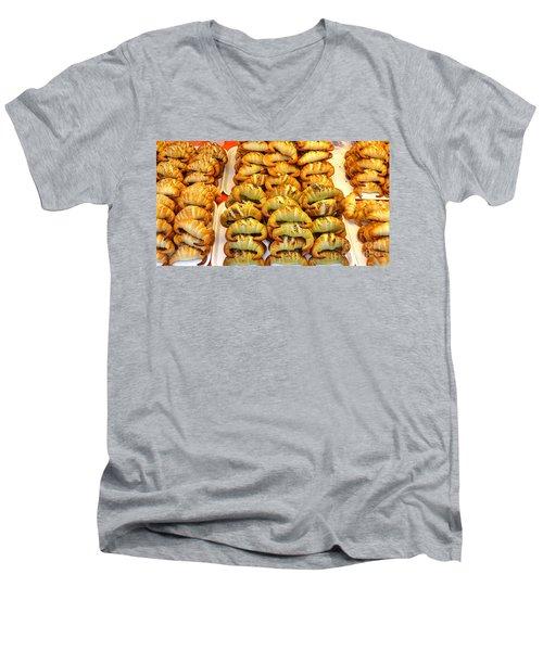 Freshly Baked Croissants Men's V-Neck T-Shirt