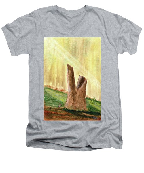 From Ruins Comes New Life Men's V-Neck T-Shirt