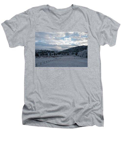 Frosted Sunrise 1 Men's V-Neck T-Shirt