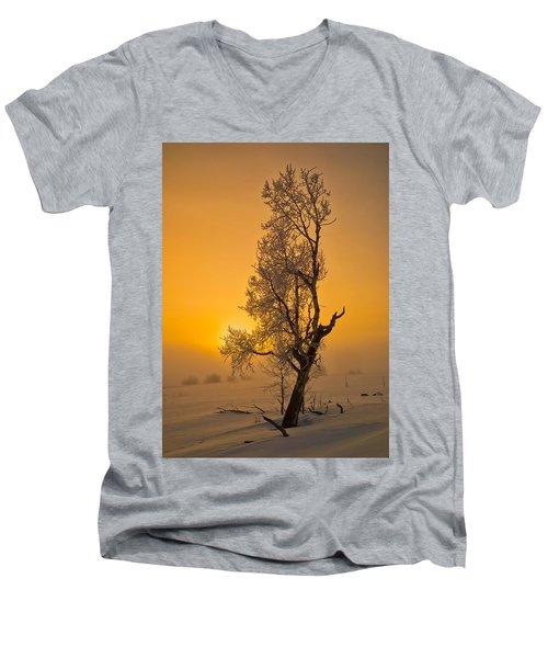 Frosted Tree Men's V-Neck T-Shirt