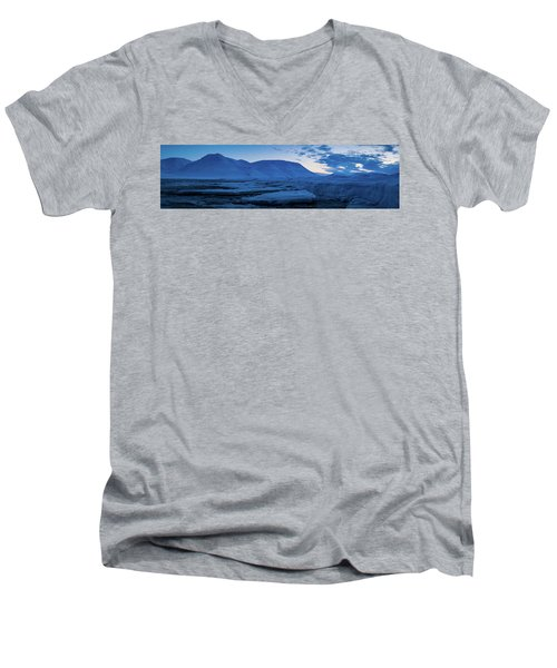 frozen coastline near Longyearbyen Men's V-Neck T-Shirt