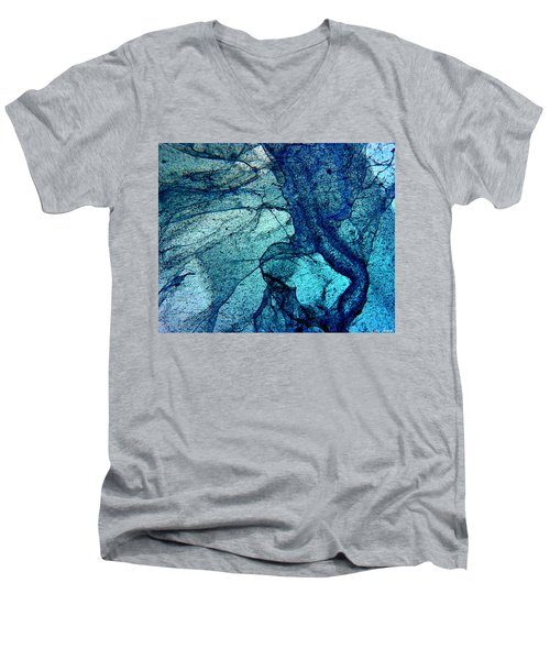 Frozen In Blue Men's V-Neck T-Shirt