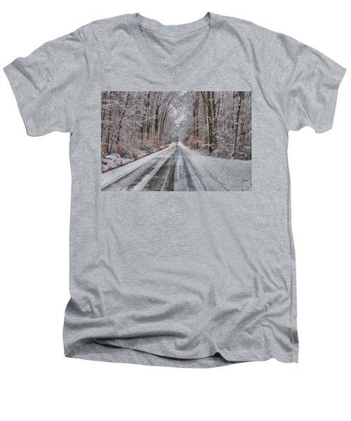 Frozen Road Men's V-Neck T-Shirt