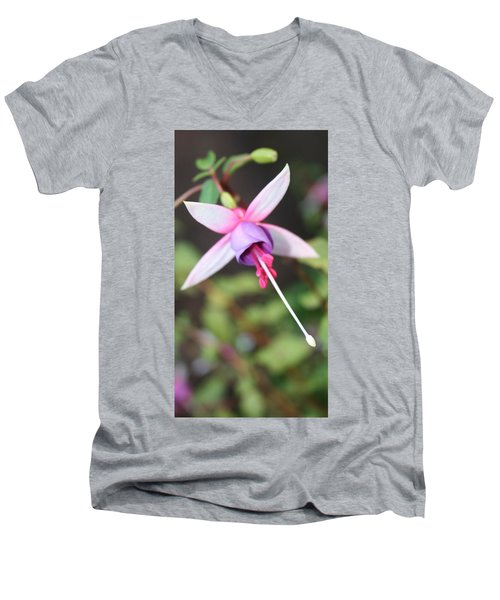 Fuchsia Showing Off In All Its Glory Men's V-Neck T-Shirt