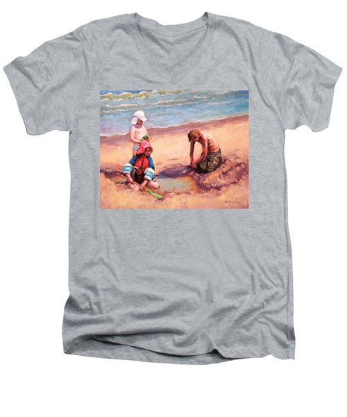 Fun At Jersey Valley Men's V-Neck T-Shirt