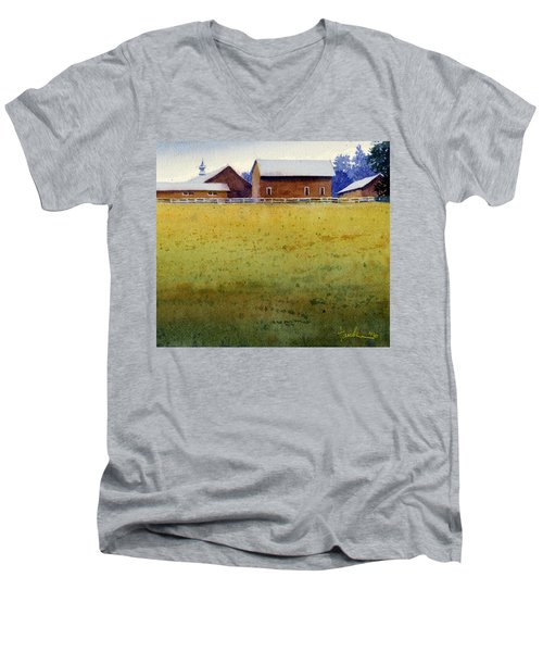 Garner Farm, Mineral Point, Wi Men's V-Neck T-Shirt
