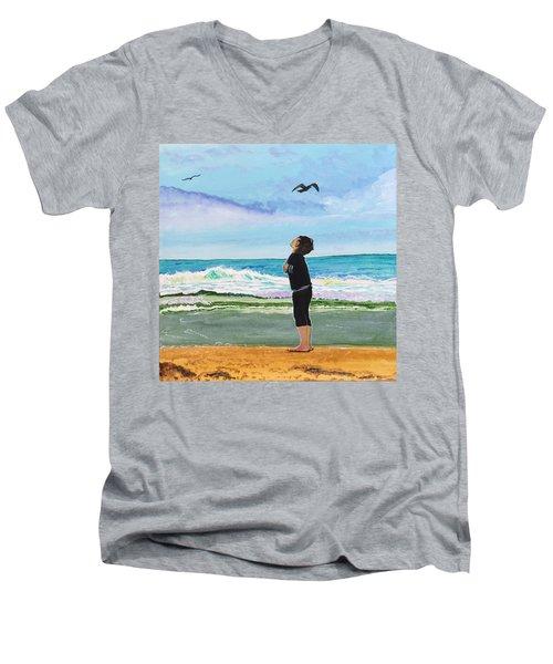 Gazing At Gulls Men's V-Neck T-Shirt