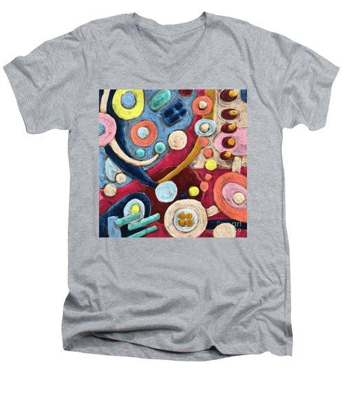 Geometric Abstract 2 Men's V-Neck T-Shirt