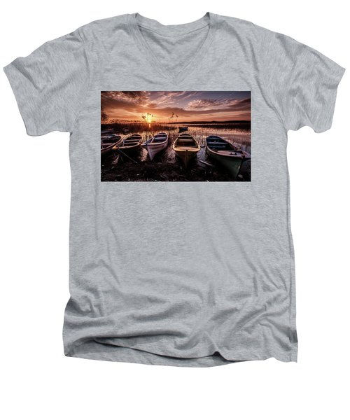 Get In Line Men's V-Neck T-Shirt