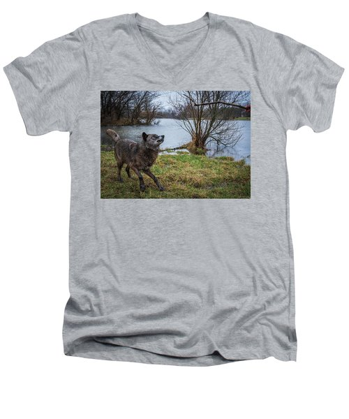 Get The Stick Men's V-Neck T-Shirt