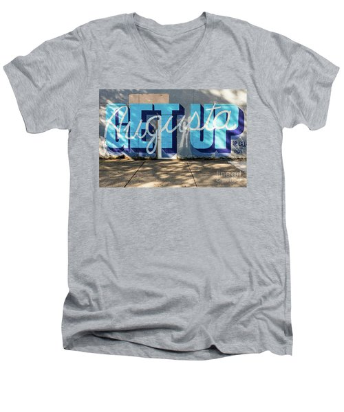 Get Up Augusta Ga Mural  Men's V-Neck T-Shirt