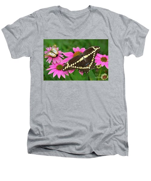 Giant Swallowtail Papilo Cresphontes Men's V-Neck T-Shirt