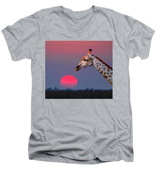 Giraffe Composite Men's V-Neck T-Shirt
