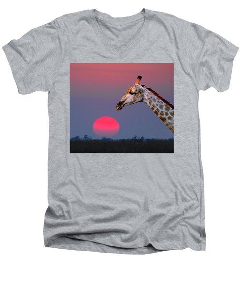 Giraffe Composite Men's V-Neck T-Shirt