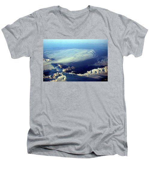 Glacier Pushes Out Men's V-Neck T-Shirt