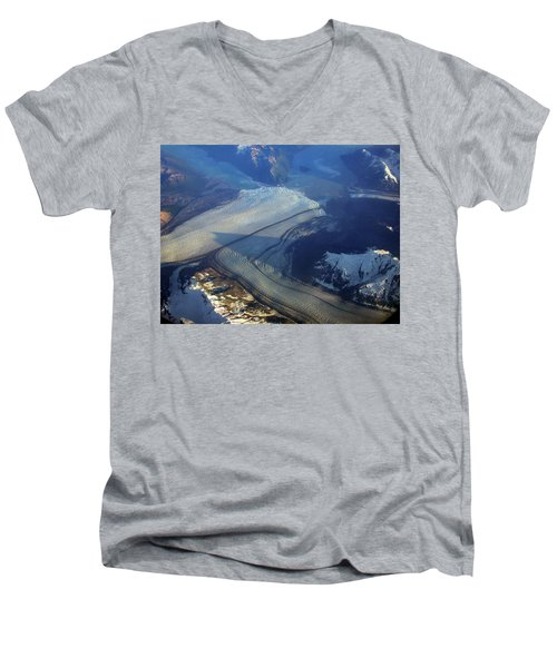 Glaciers Converge Men's V-Neck T-Shirt