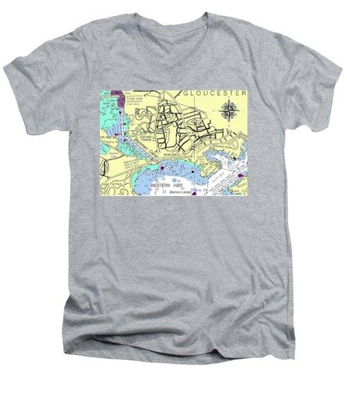 Gloucester, Ma Men's V-Neck T-Shirt