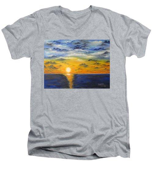 Glowing Sun Men's V-Neck T-Shirt