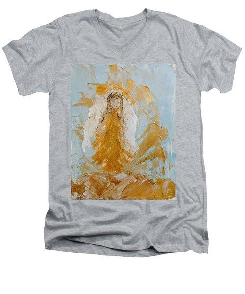 Golden Angel Men's V-Neck T-Shirt