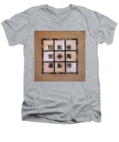 Golden Frost On The Window Men's V-Neck T-Shirt