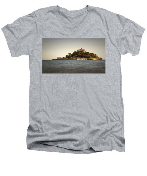 Golden Hour At St Michael's Mount Men's V-Neck T-Shirt