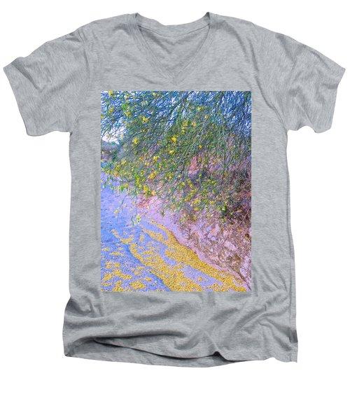 Golden Petals In A Desert Wash Men's V-Neck T-Shirt