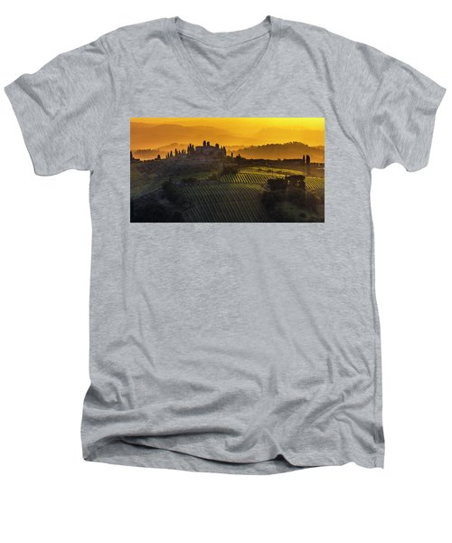 Golden Tuscany Men's V-Neck T-Shirt