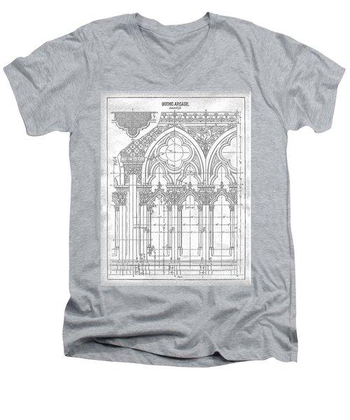 Gothic Arches Men's V-Neck T-Shirt