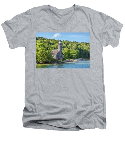 Grand Island East Channel Lighthouse, No. 2 Men's V-Neck T-Shirt