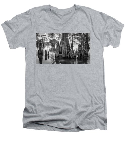 Grand Lake Cypress Men's V-Neck T-Shirt