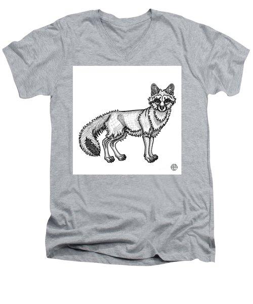 Gray Fox Men's V-Neck T-Shirt