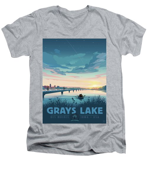 Grays Lake Men's V-Neck T-Shirt