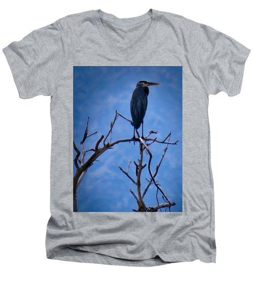 Great Blue Heron 3 Men's V-Neck T-Shirt