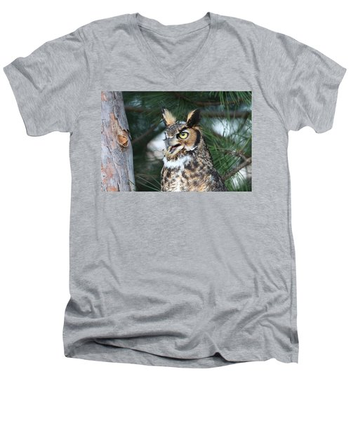 Great Horned Owl 5151801 Men's V-Neck T-Shirt
