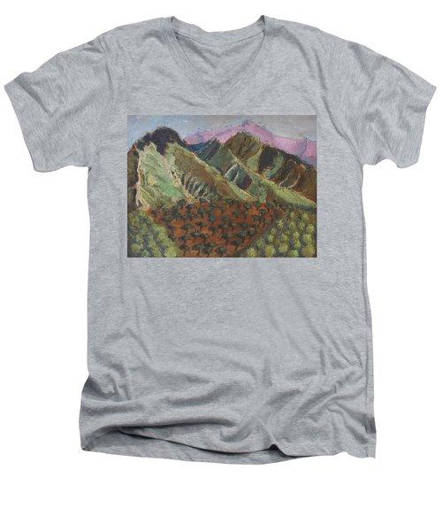 Green Canigou Men's V-Neck T-Shirt