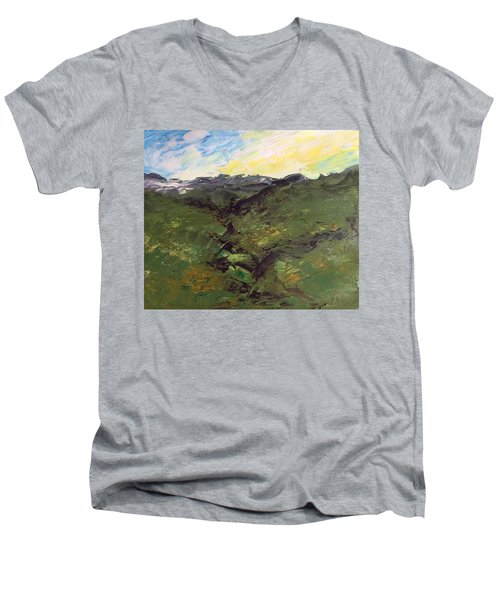 Green Hills Men's V-Neck T-Shirt