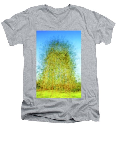 Green Towers Men's V-Neck T-Shirt