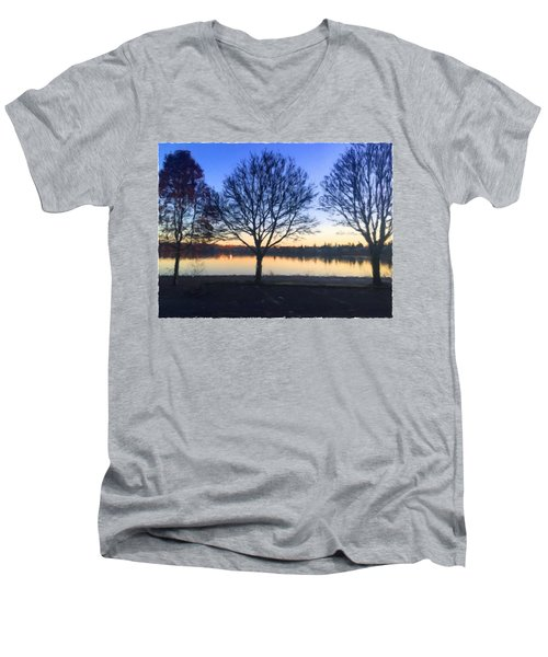 Greenlake Dawn Men's V-Neck T-Shirt