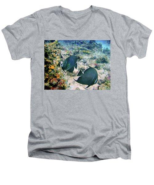 Grey Play Men's V-Neck T-Shirt