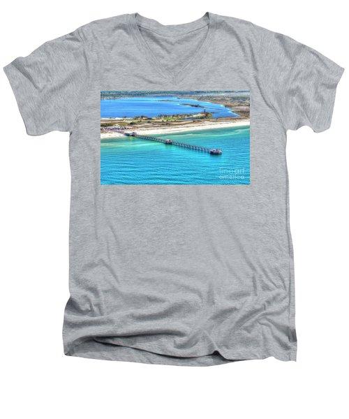 Gulf State Park Pier 7464p3 Men's V-Neck T-Shirt