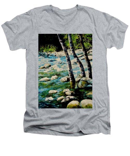 Gushing Waters Men's V-Neck T-Shirt