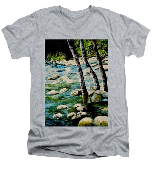 Gushing Waters Men's V-Neck T-Shirt