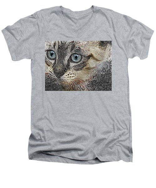 Gypsy The Siamese Kitten Men's V-Neck T-Shirt