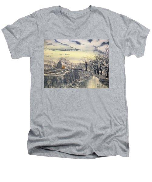 Hag Dyke By Moonlight Men's V-Neck T-Shirt