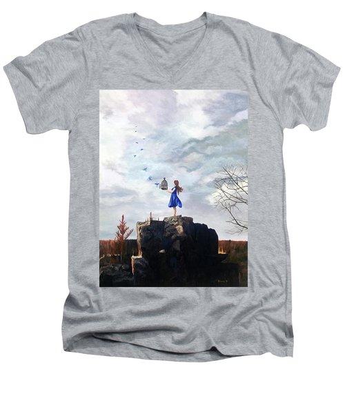Happiness Released Men's V-Neck T-Shirt