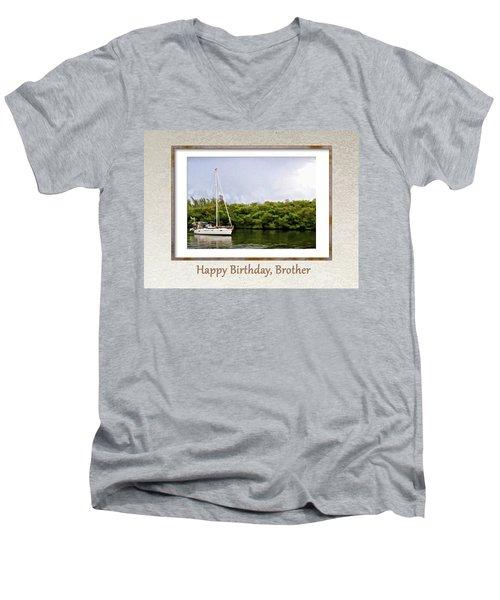 Happy Birthday, Brother Men's V-Neck T-Shirt